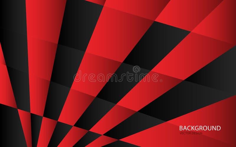 Ejemplo abstracto rojo del vector del fondo Pared Bandera del Web cubierta tarjeta Textura wallpaper Aviador folleto Informe anua libre illustration
