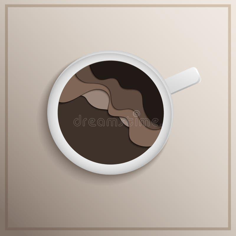 Ejemplo acodado taza de Coffe stock de ilustración