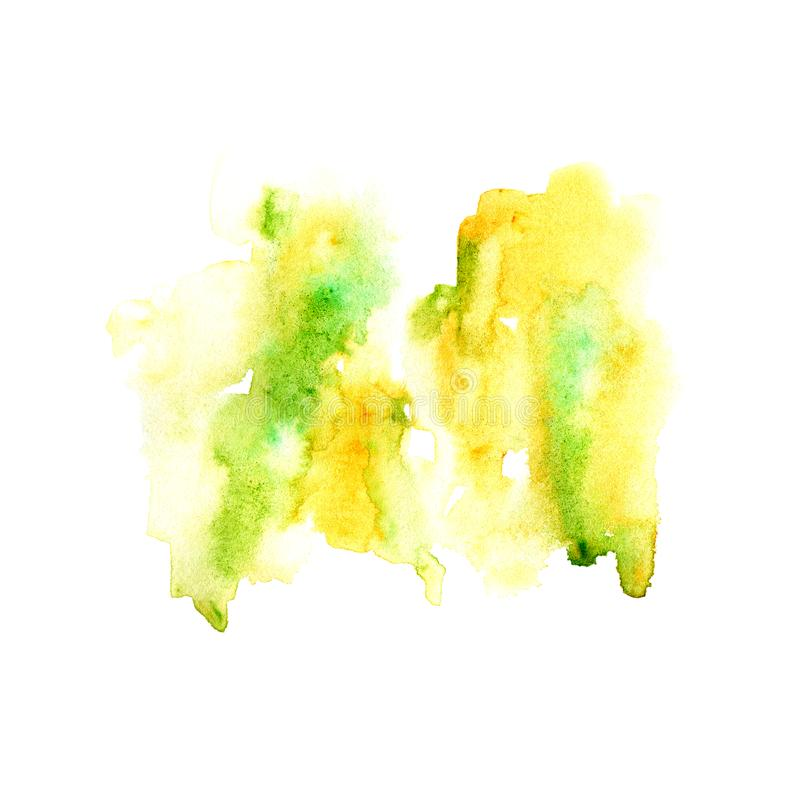 Ejemplo acuoso amarillo Imagen dibujada mano abstracta de la acuarela libre illustration