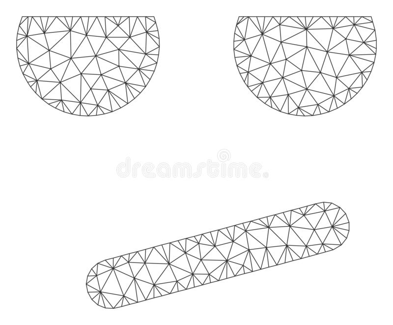 Ejemplo agujereado de Smiley Polygonal Frame Vector Mesh libre illustration