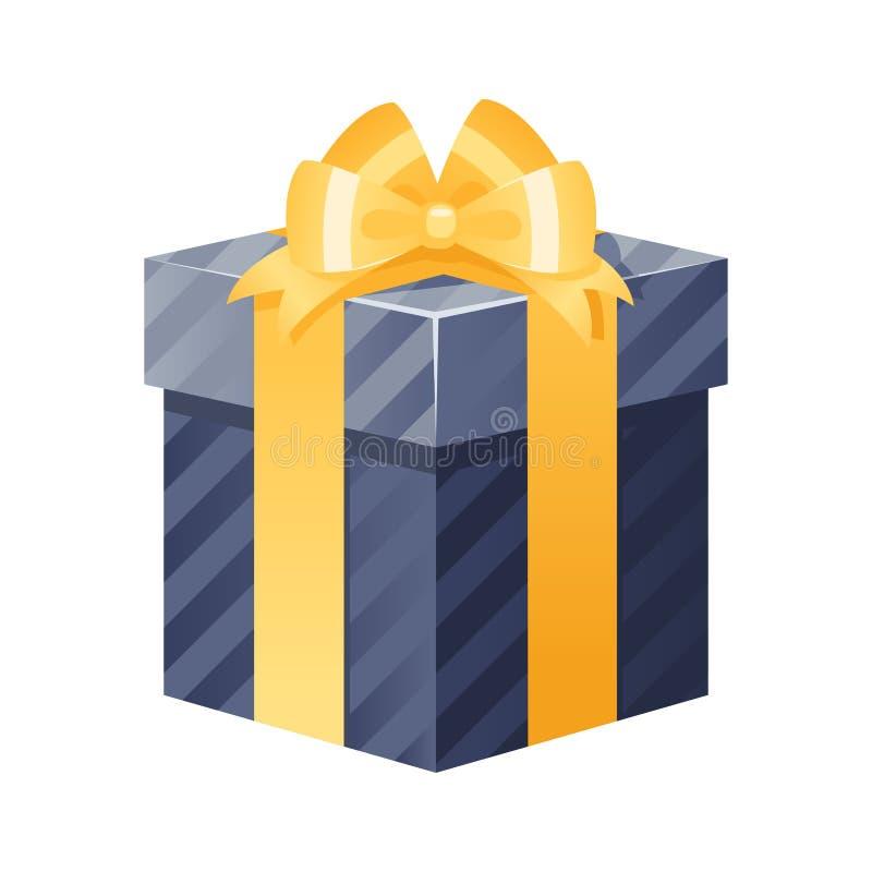 Ejemplo aislado del vector de la caja de regalo actual ilustración del vector