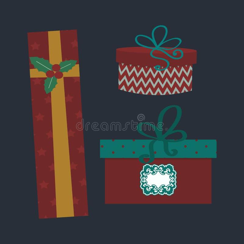 Ejemplo aislado del vector de la caja de regalo actual libre illustration