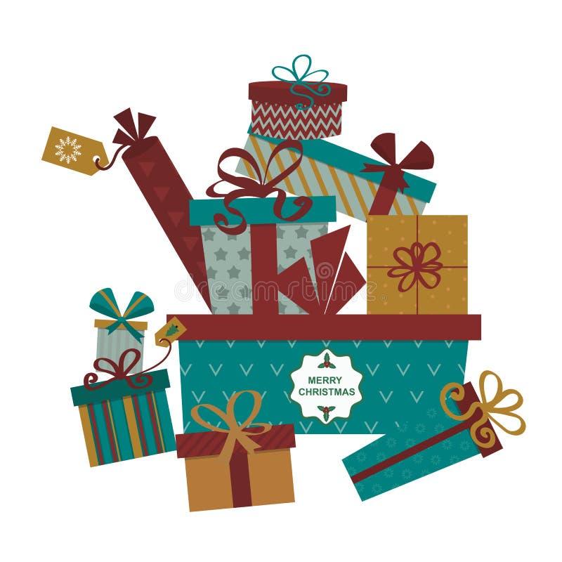 Ejemplo aislado del vector de la caja de regalo actual stock de ilustración