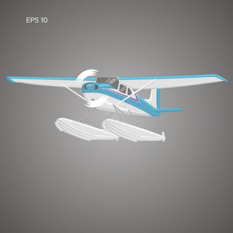 Ejemplo aislado pequeño hidroavión del vector ilustración del vector