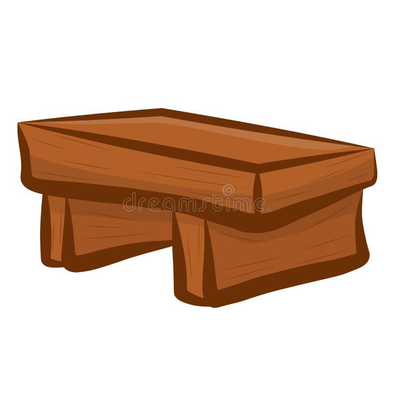 Ejemplo aislado silla de madera libre illustration