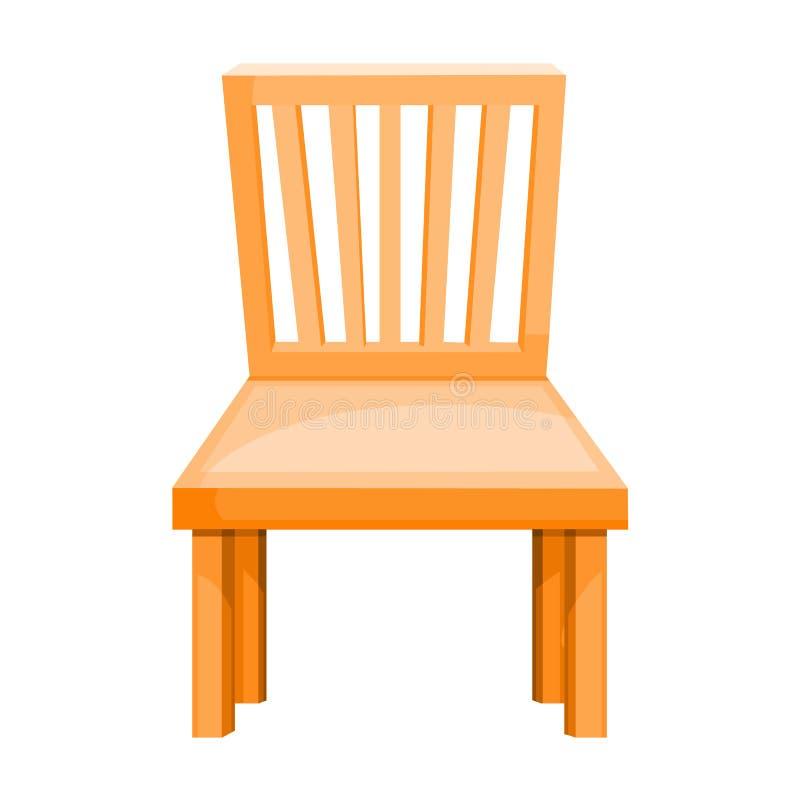 Ejemplo aislado silla de madera ilustración del vector