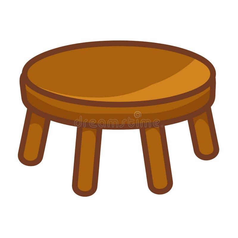 Ejemplo aislado silla de madera stock de ilustración