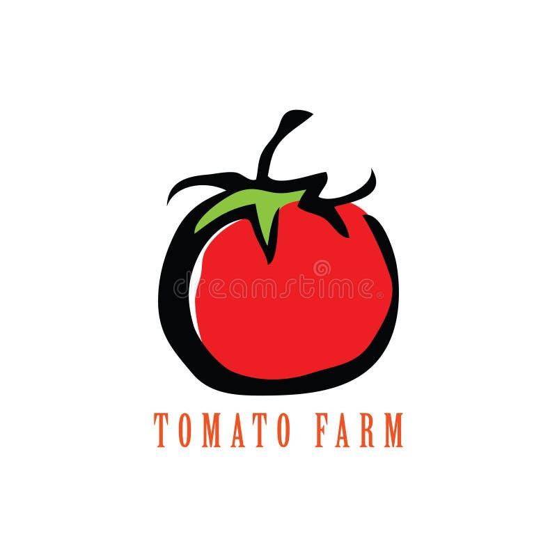 Ejemplo aislado tomate de la historieta ilustración del vector