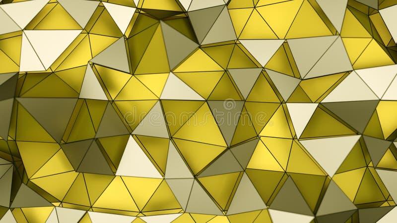Ejemplo amarillo acodado polivinílico bajo de la representación de la superficie 3D ilustración del vector