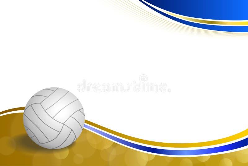 Ejemplo amarillo azul del marco de la bola del voleibol abstracto del deporte del fondo ilustración del vector