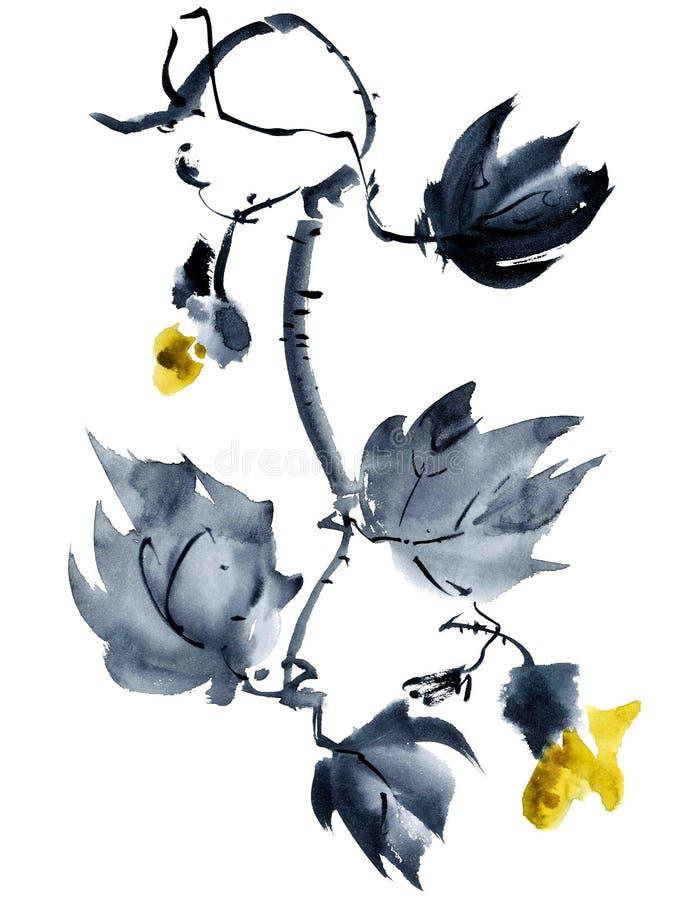 Ejemplo amarillo de la flor libre illustration