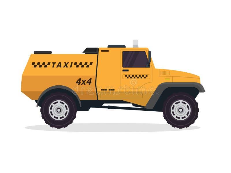 Ejemplo amarillo urbano moderno del vehículo del taxi libre illustration