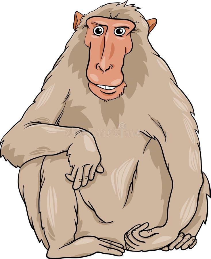 Ejemplo animal de la historieta de Macaquee stock de ilustración