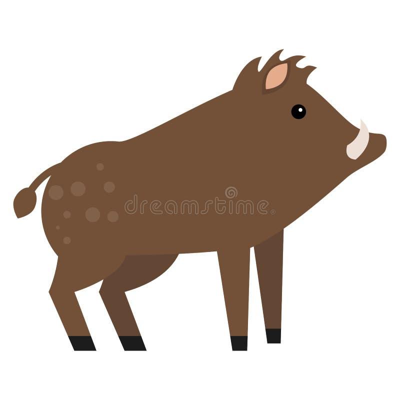Ejemplo animal del vector del jabalí ilustración del vector