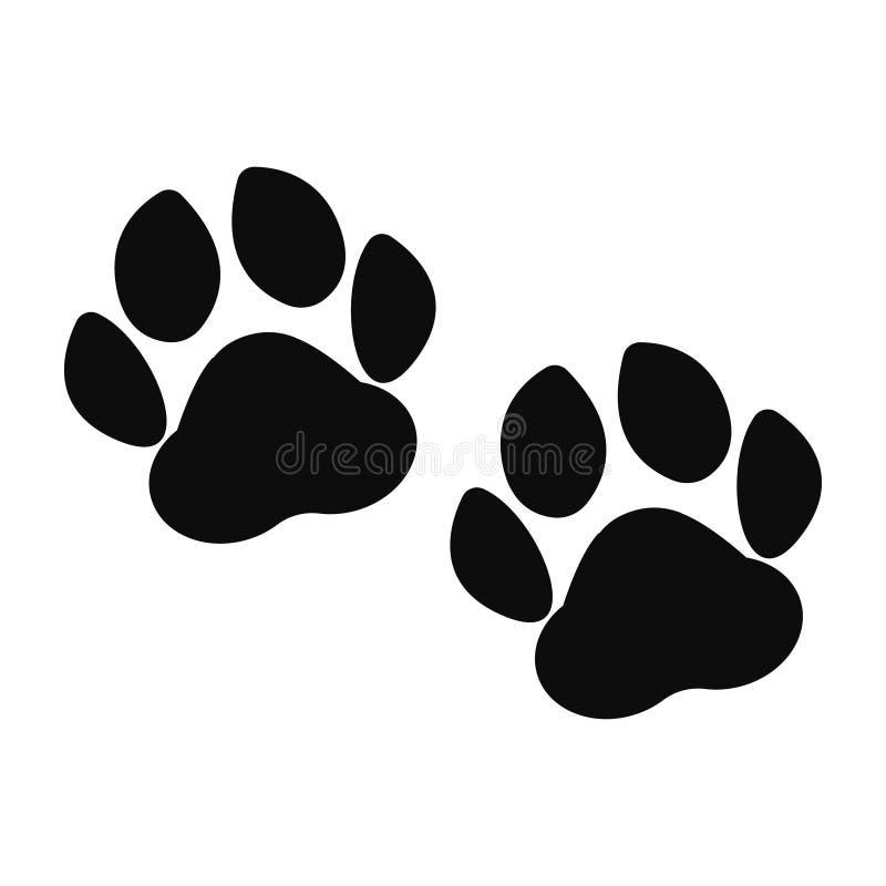Ejemplo animal del vector del paso de la huella de la pata de la impresión de la pata stock de ilustración