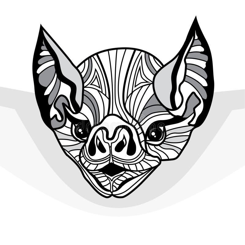 Ejemplo animal del vector principal del palo para la camiseta ilustración del vector