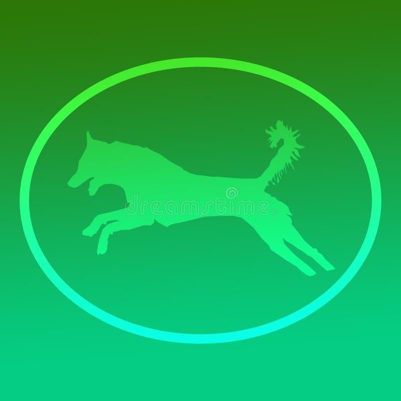 Ejemplo animal entrenado animal doméstico nacional Logo Banner Image del perro stock de ilustración