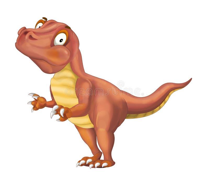 Ejemplo animal prehistórico del rapaz de la historieta para los niños ilustración del vector