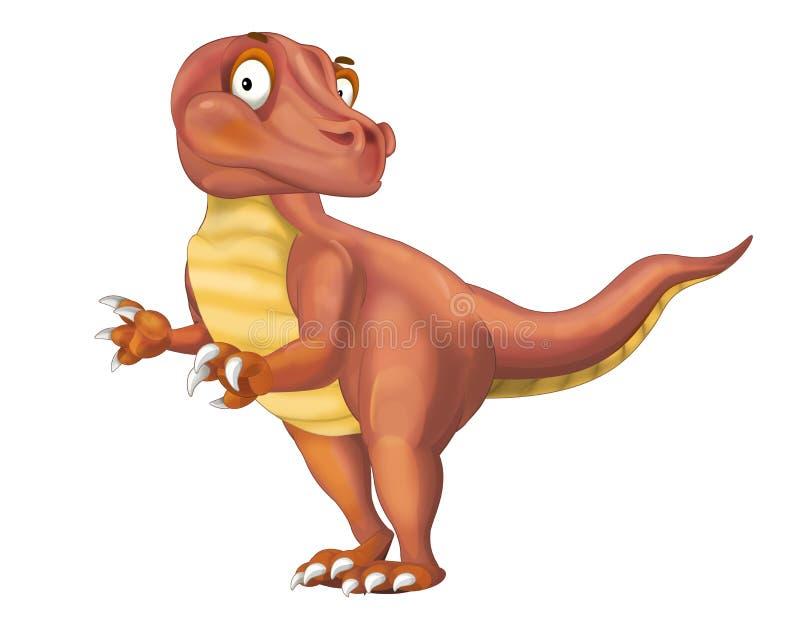 Ejemplo animal prehistórico del rapaz de la historieta para los niños stock de ilustración