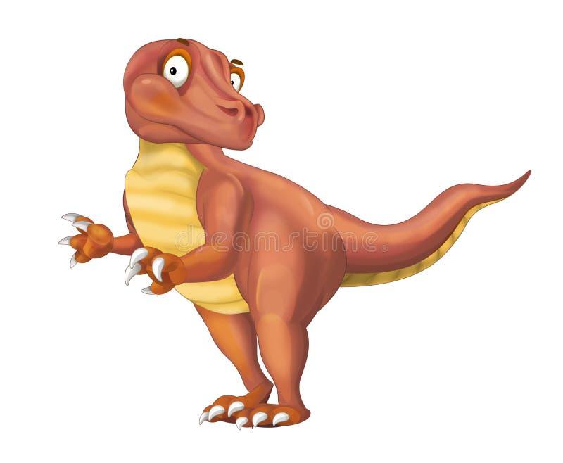 Ejemplo animal prehistórico del rapaz de la historieta para los niños libre illustration
