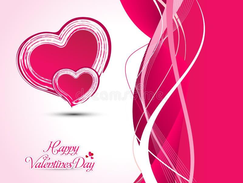 Ejemplo artístico abstracto del vector del corazón de la tarjeta del día de San Valentín foto de archivo