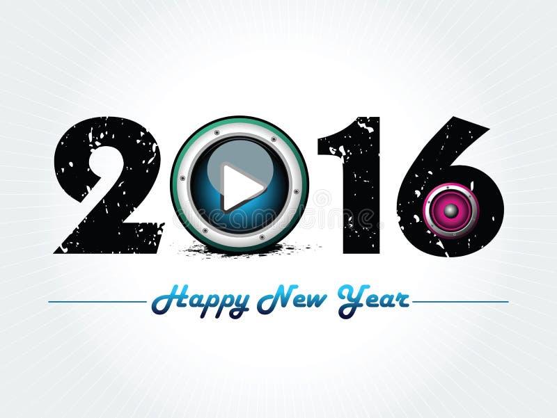 Ejemplo artístico abstracto del vector del texto del Año Nuevo fotos de archivo