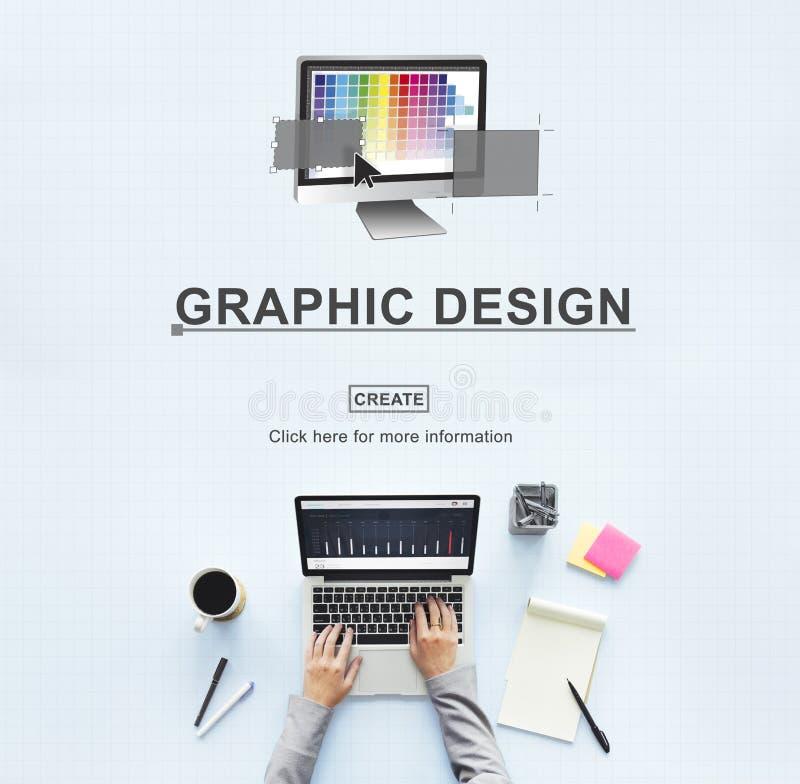Ejemplo Art Work Concept del diseño gráfico fotografía de archivo libre de regalías