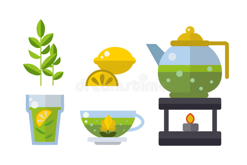Ejemplo asiático tradicional del vector de la bebida de la ceremonia de té ilustración del vector