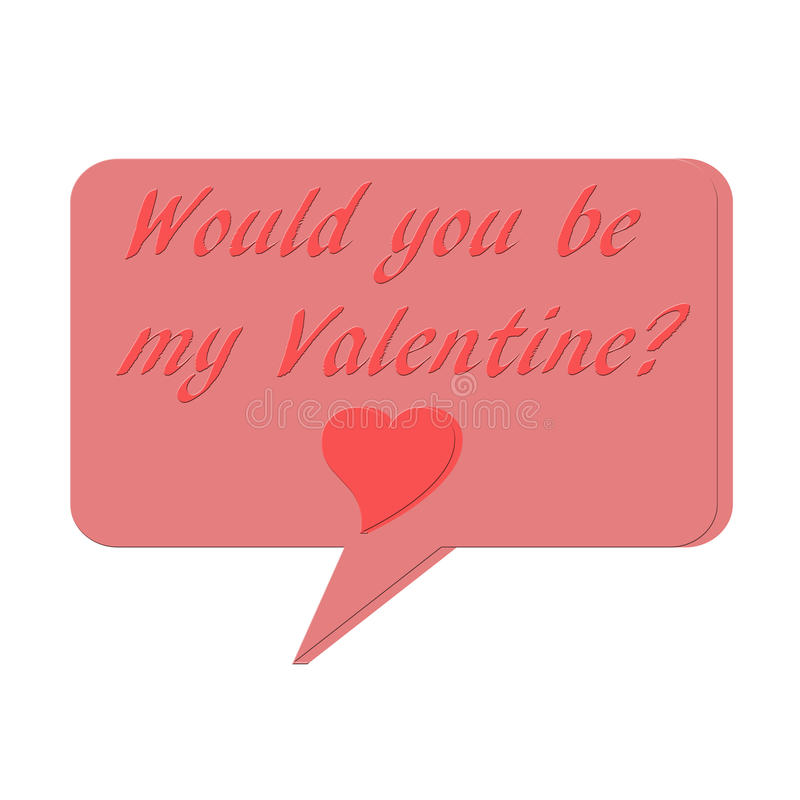 Ejemplo ay del ` s de la tarjeta del día de San Valentín fotografía de archivo libre de regalías