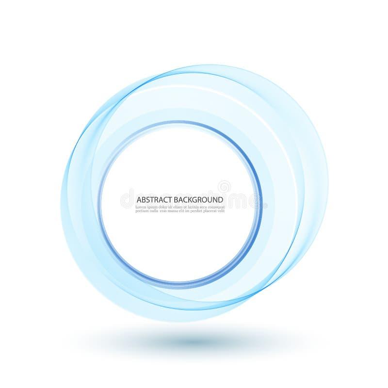 Ejemplo azul abstracto del vector del círculo del remolino para usted diseño moderno Marco o bandera redondo con el lugar para el stock de ilustración