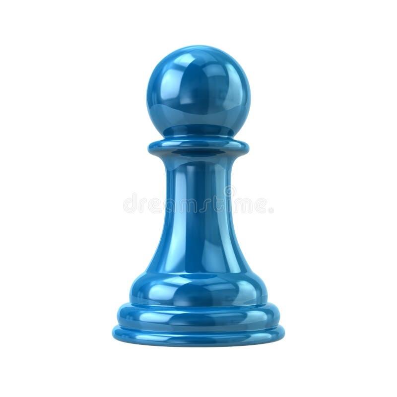 Ejemplo azul del empeño 3d stock de ilustración