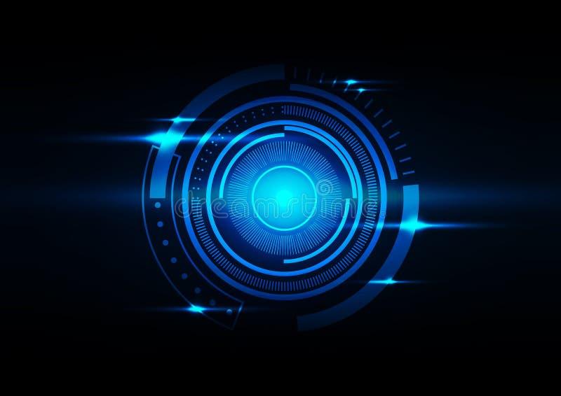 Ejemplo azul marino del vector del fondo del círculo abstracto stock de ilustración