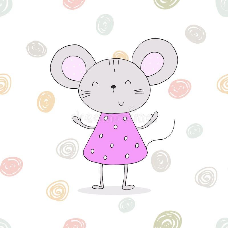 Ejemplo bastante pequeño del vector del ratón stock de ilustración