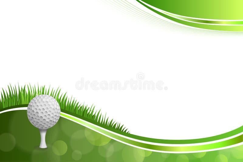 Ejemplo blanco de la bola del golf verde abstracto del fondo ilustración del vector