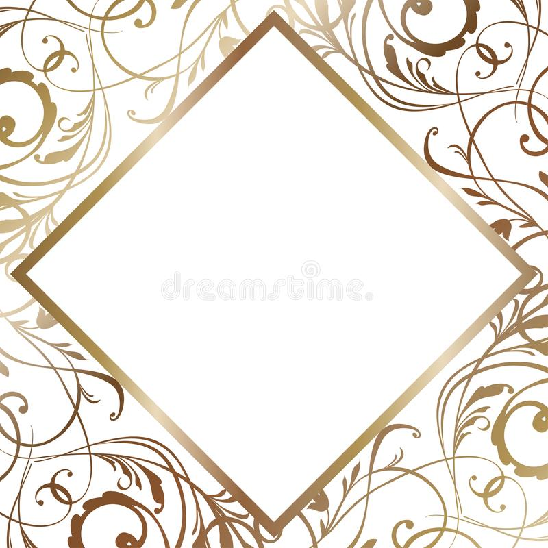 Ejemplo blanco de la invitación de boda Invitación en vector Plantilla nupcial de la ducha ilustración del vector