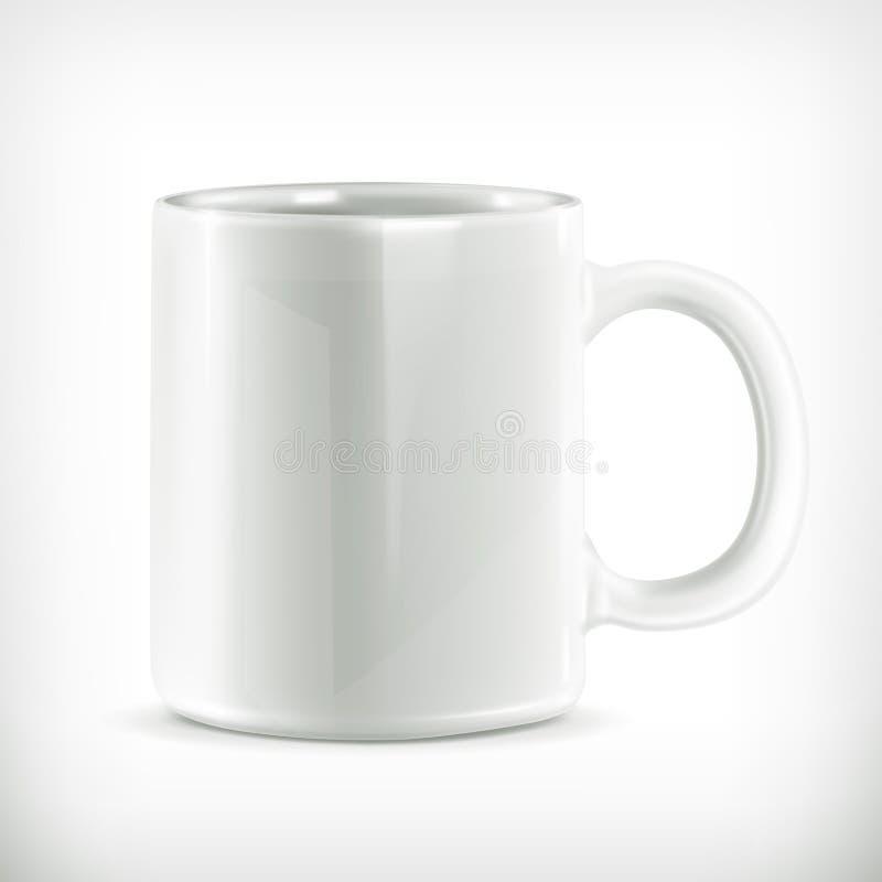 Ejemplo blanco de la taza ilustración del vector