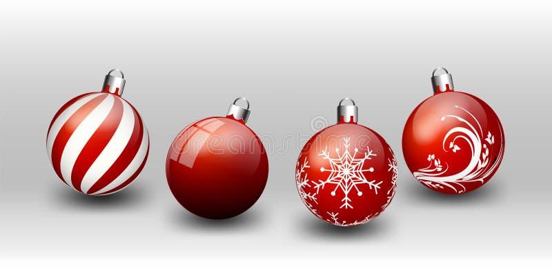Ejemplo blanco del fondo de la Navidad de los elementos en la tarjeta de la Feliz Año Nuevo del fondo del negro del vector de Bla ilustración del vector