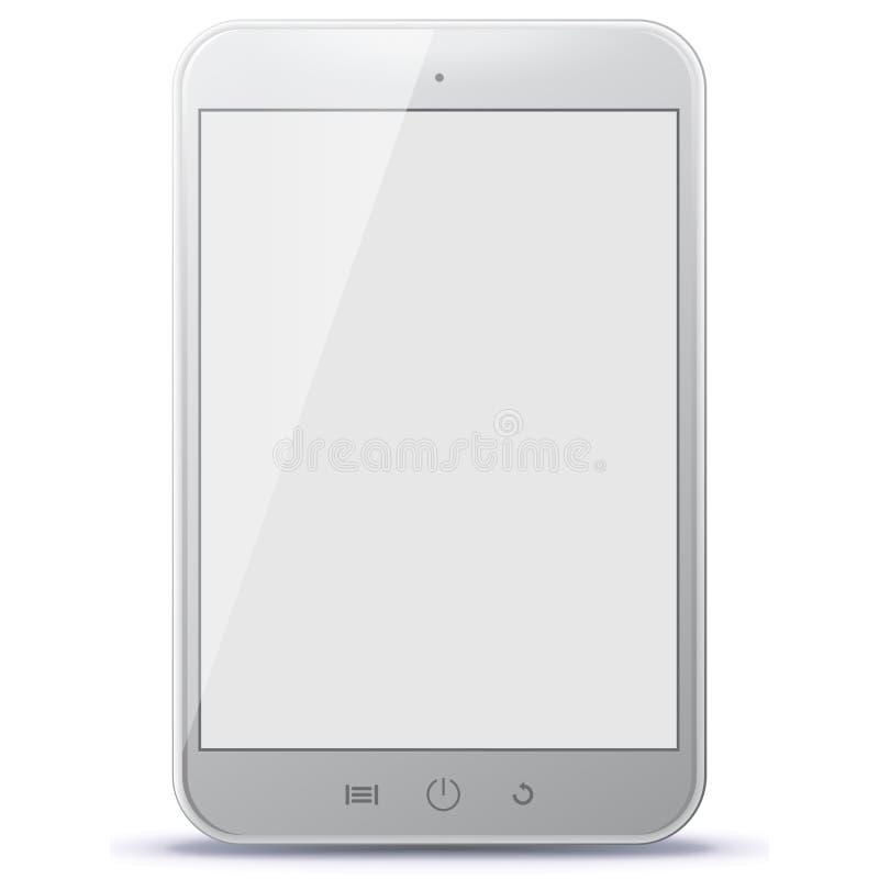 Ejemplo blanco del vector de la tableta fotografía de archivo libre de regalías