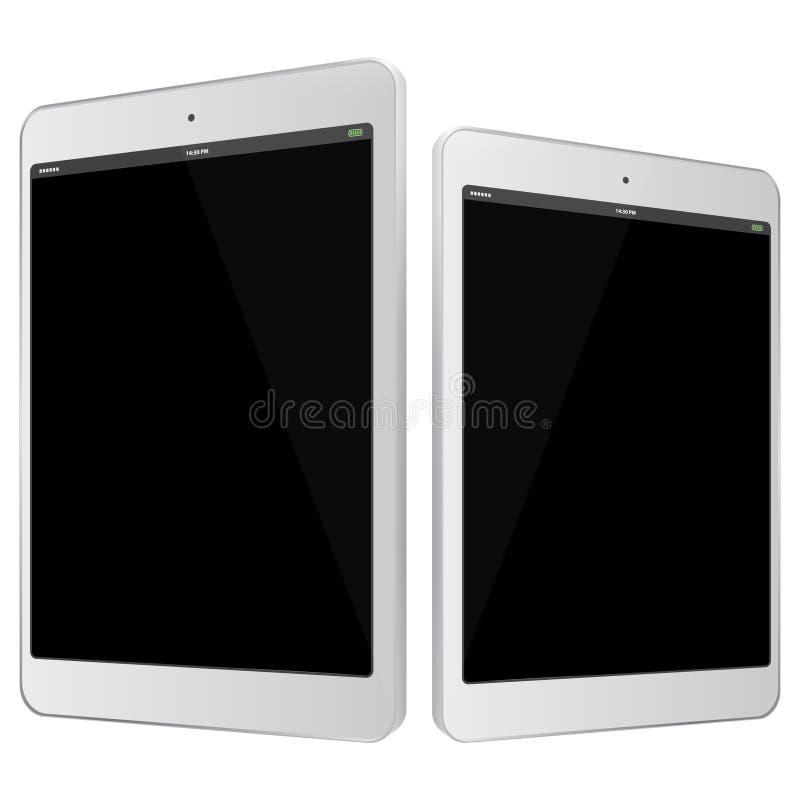 Ejemplo blanco del vector del Tablet PC imagenes de archivo