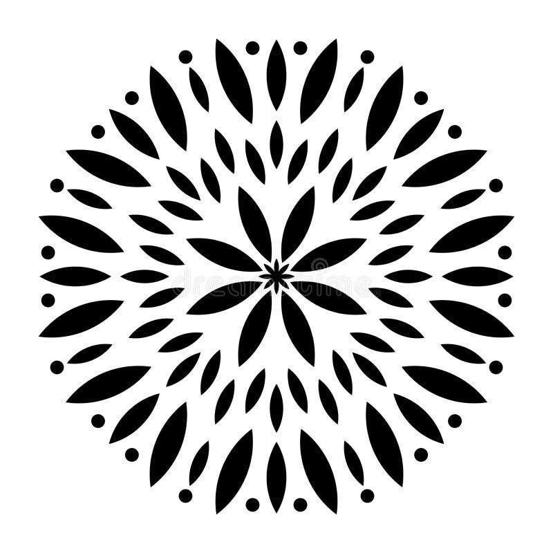 Ejemplo blanco y negro de la mandala stock de ilustración