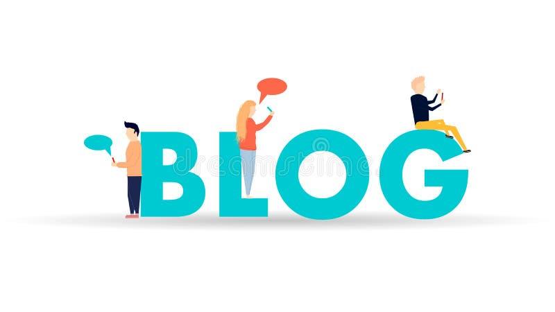 Ejemplo Blogging del concepto ilustración del vector