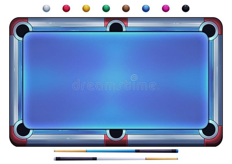 Ejemplo: Bolas de piscina, bolas del billar, bolas de billar HD en el fondo blanco ilustración del vector