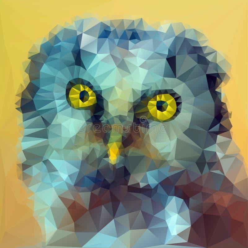 Ejemplo boreal de la cabeza del búho stock de ilustración