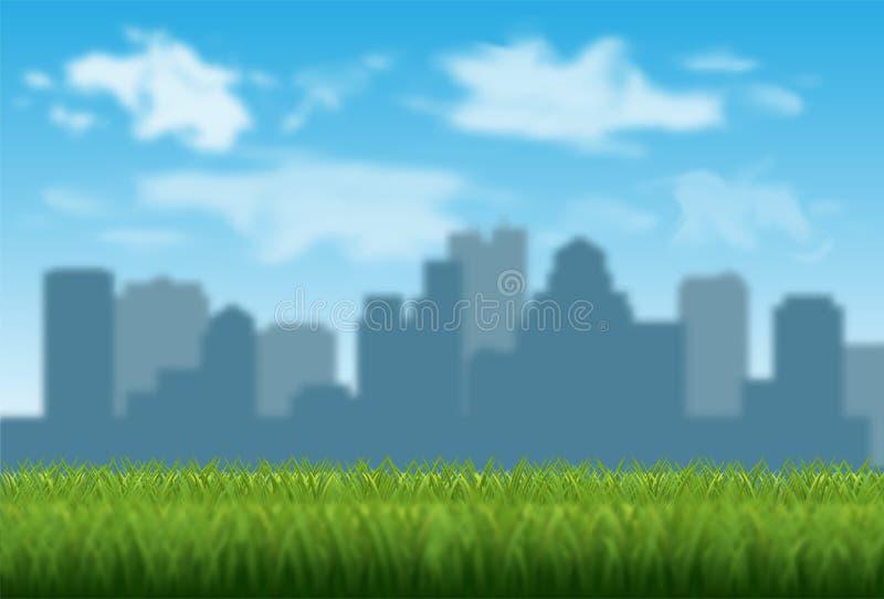 Ejemplo borroso del vector del fondo de la ciudad ilustración del vector