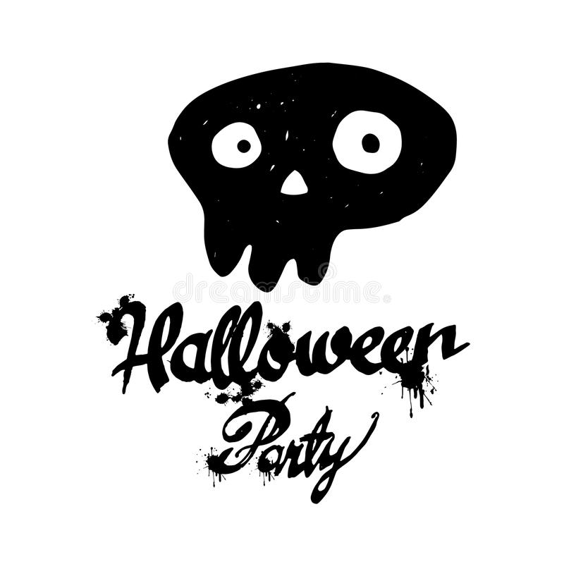 Ejemplo brillante del vector, cartel, postal para el feliz Halloween stock de ilustración