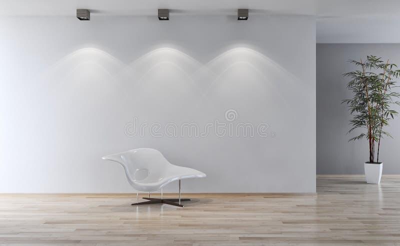 Ejemplo brillante moderno de la representación del apartamento 3D de los interiores fotos de archivo