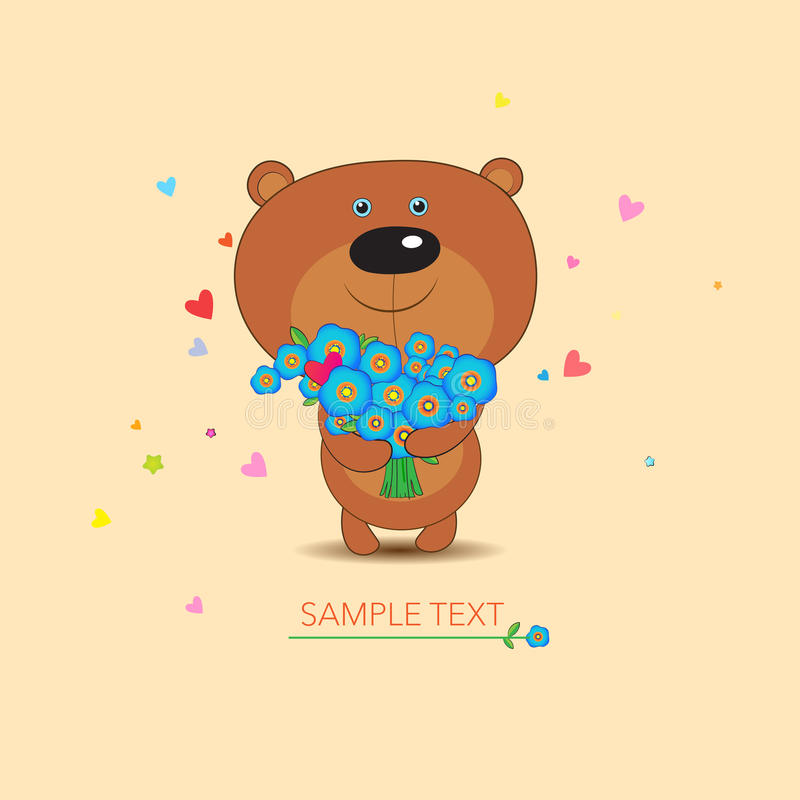 Ejemplo Brown Teddy Bear Toy del vector ilustración del vector