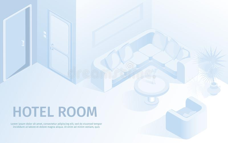Ejemplo cómodo del vector del apartamento del hotel stock de ilustración
