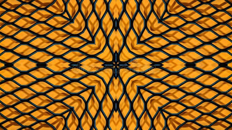 Ejemplo caleidoscópico de una rejilla del metal stock de ilustración