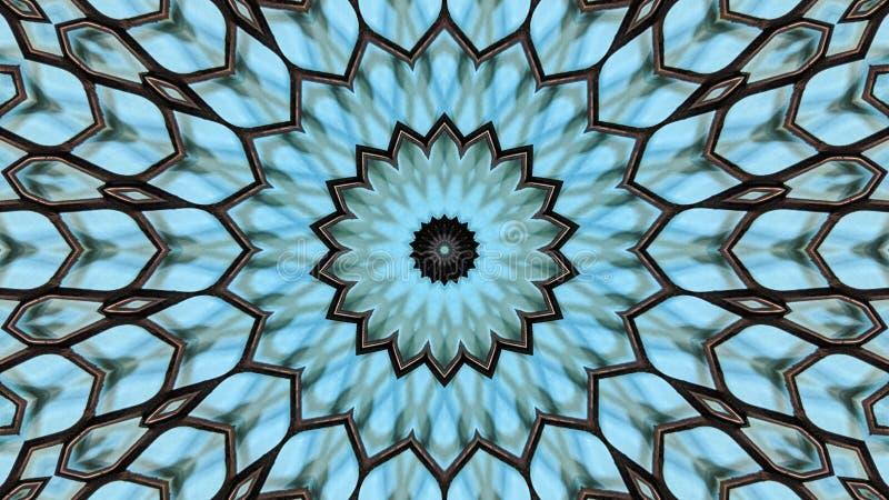 Ejemplo caleidoscópico de una rejilla del metal ilustración del vector